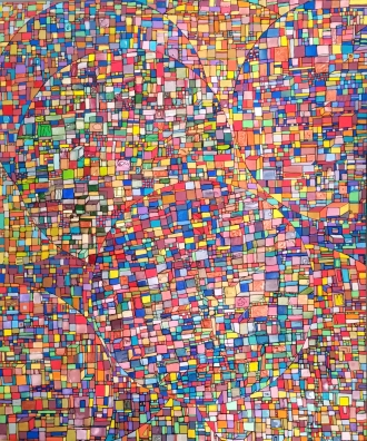"""VENDU """"Série RT n°8"""", mai 2015, acrylique sur toile, 60 x 50 cm"""