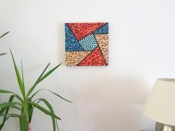 """VENDU """"Série Inspiration Australe n°4"""" - peinture acrylique sur toile - juillet 2016 - 40 x 40 cm"""