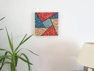 """""""Série Inspiration Australe n°4"""" - peinture acrylique sur toile - juillet 2016 - 40 x 40 cm - DISPONIBLE"""
