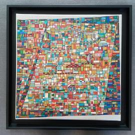"""VENDU """"Série RT n°16"""", déc 2016, acrylique sur toile, 40 x 40 cm"""