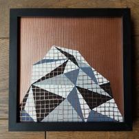 """""""Série inspiration australe, papier n°3"""", fev 2017, acrylique sur papier encadré noir, 20 x 20 cm, DISPONIBLE"""