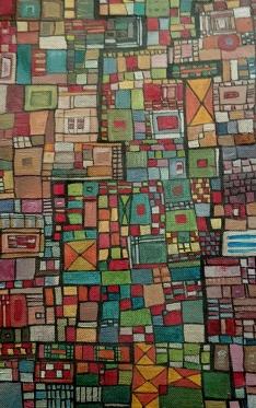 """""""Série RT n°1"""", 2009, acrylique sur toile, 20 x 10 cm, VENDU mais DISPONIBLE SUR COMMANDE (non à l'identique !)"""