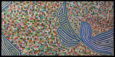 """VENDU """"Série inspiration australe n°1"""", 2015, acrylique sur toile, 70 x 40 cm"""