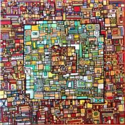 """""""Série RT n°2"""", 2009, acrylique sur toile, 30 x 30 cm"""