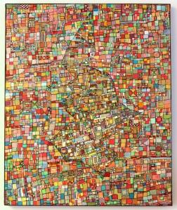 """""""Série RT n°4"""", 2011, acrylique sur toile, 60 x 50 cm, VENDU"""