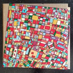 """VENDU """"Série RT n°15a"""", septembre 2016, acrylique sur bois (chute de parquet massif), 16 x 17 cm"""
