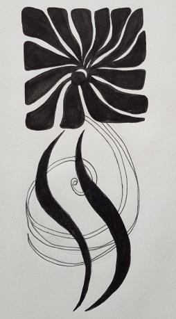 fleur carrée art deco