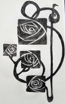 Roses carrées art deco (2)