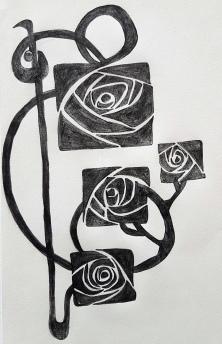 Roses carrées art deco (3)