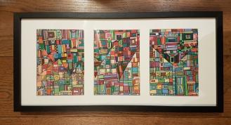 Série RT papier n°7, dec 2017, triptyque 3x 10x15cm, disponible de suite