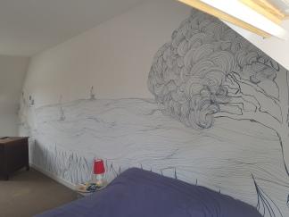"Fresque ""vue sur mer"""
