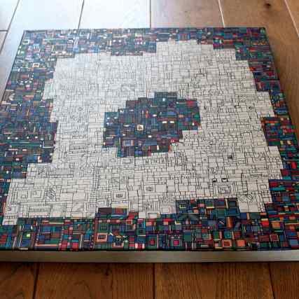 Série RT n°38 - 2020 janvier - 50 x 50 cm - peinture sur toile de lin - dispo